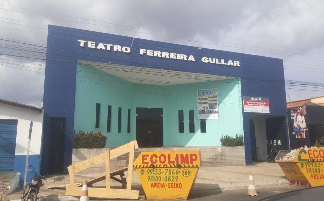 Teatro Ferreira Gullar inicia  reforma  sem recursos suficientes para concluir a obra