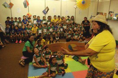 Salimp promove oficina de contação de histórias para o público infantil