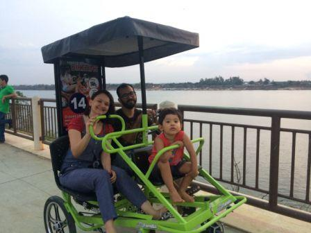 Bicicletas três rodas é mais uma opção de diversão e lazer na Beira Rio