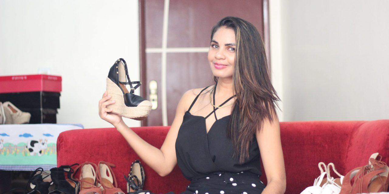 Empresária inova com venda de calçados femininos personalizados