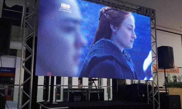 Shopping exibe nova temporada de Game of Thrones em telão