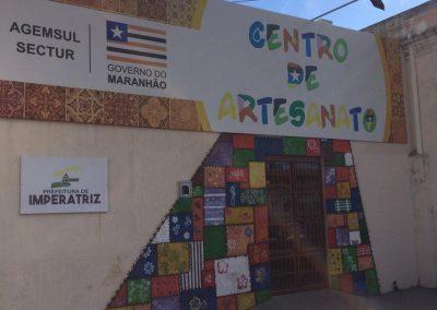 Fachada do Centro de Artesanato