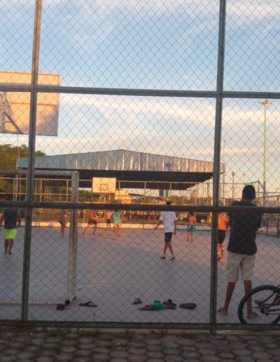 Quadra de futsal do Complexo Esportivo