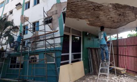 Hospital Socorrão passa por revitalização em sua fachada