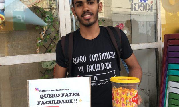 Jovens vendem paçoca nas ruas de Imperatriz para pagar a faculdade