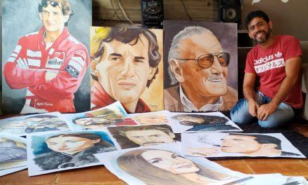 Cartazes de cinema são inspiração para artista por trás dos muros da Funac